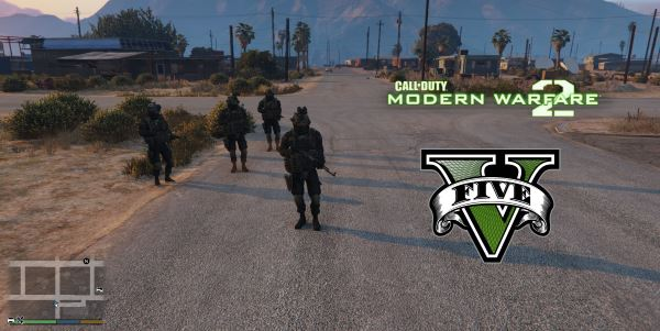 Modern Warfare 2 Shadow Company Squad [Add-On Ped] для GTA 5