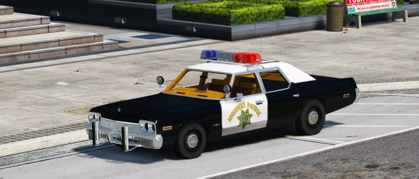1974 Dodge Monaco Police [Animated | Wipers] для GTA 5