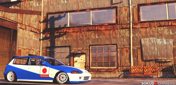 Honda Civic EG6 Kanjo Edition [Tuning | Template] для GTA 5