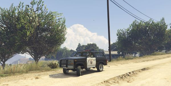 1980 Ford Bronco California Highway Patrol для GTA 5