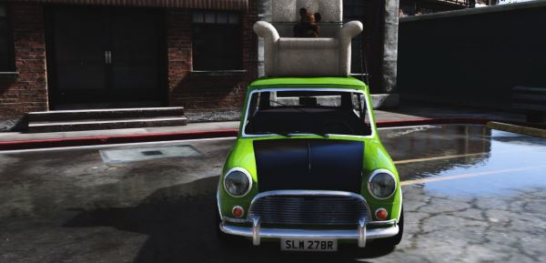 Mr. Bean Mini Cooper [Replace] для GTA 5