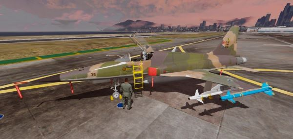 Northrop F-5EM Tiger FAB [Add-On] для GTA 5