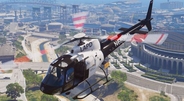 AS-350 Ecureuil (LAPD & CHP) [Add-On / Replace | Livery] для GTA 5