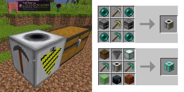 Simple Quarry для Майнкрафт 1.10.2