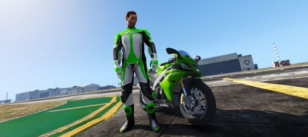 Bikers Racing Suit [Add-On Ped] для GTA 5