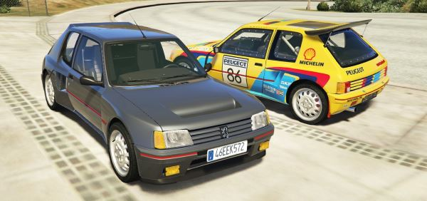 Peugeot 205 Turbo 16 & Rally (2in1) [Add-On | Tuning | Livery] для GTA 5
