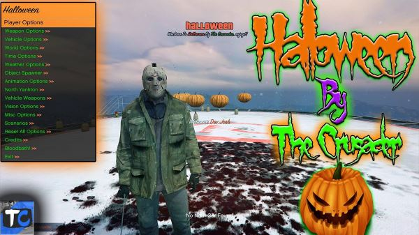 Halloween Mod Menu (Open Source) v 1.02 для GTA 5
