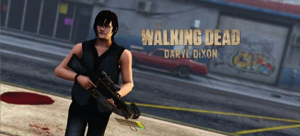 Daryl Dixon from The Walking Dead [Add-On Peds] для GTA 5
