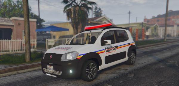 2014 Fiat Uno Way PMMG для GTA 5