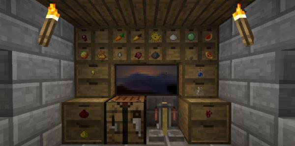 Storage Drawers для Майнкрафт 1.11
