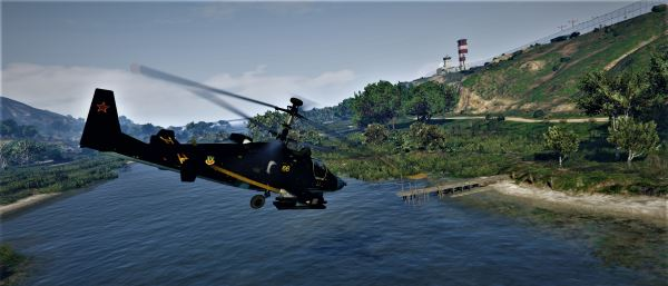 Kamov Ka-52 Alligator (Black Shark) Камов Ка-52 [Replace] для GTA 5
