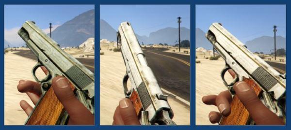 Max Payne 3 Colt 1911 Licence retextured для GTA 5