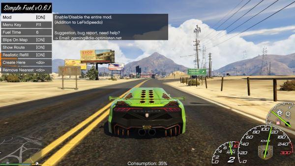 Simple Fuel для GTA 5