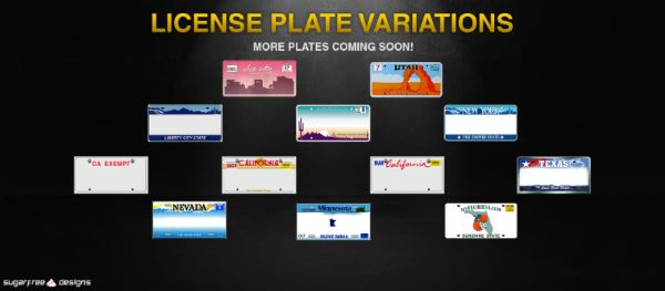 License Plate Variations для GTA 5