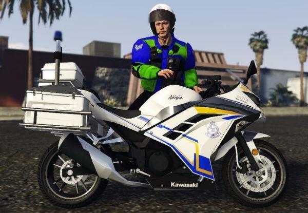 Kawasaki Ninja Malaysian Police для GTA 5