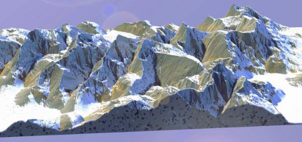 Snowy Mountain ridges для Майнкрафт 1.11