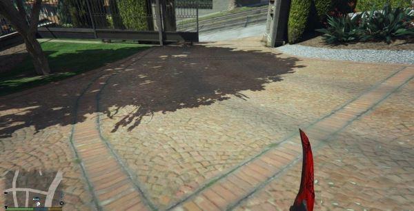 Karambit Crimson Web для GTA 5