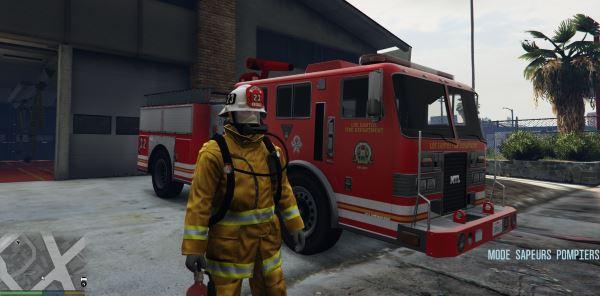 Firefighter Mod (Mode Sapeurs-Pompiers) 2.0A для GTA 5