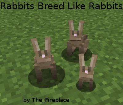 Rabbits Breed Like Rabbits для Майнкрафт 1.11