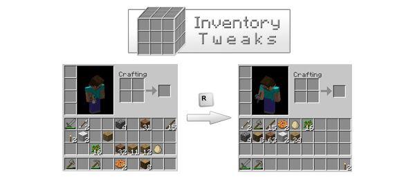 Inventory Tweaks для Майнкрафт 1.11