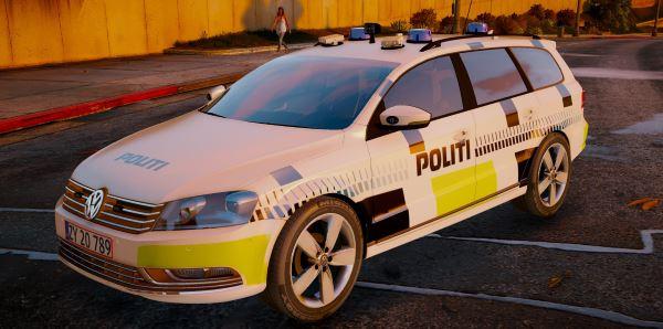 2011 Volkswagen Passat Estate - Danish Police для GTA 5