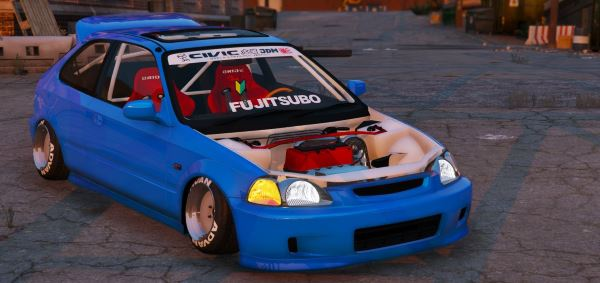 Honda Civic EK9 Stance Edition [Tuning | Template] для GTA 5