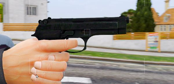 Beretta 92 [Animated] для GTA 5