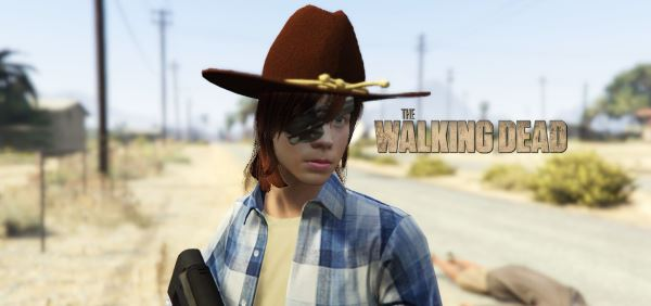 The Walking Dead S07 - Carl Grimes [Add-On Ped] для GTA 5