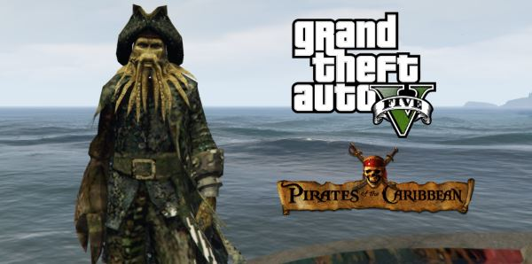 Davy Jones [Add-On Ped] для GTA 5