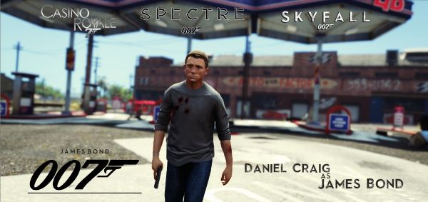 James Bond 007 (Daniel Craig) [Add-On Ped] для GTA 5