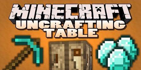 Uncrafting Table для Майнкрафт 1.11