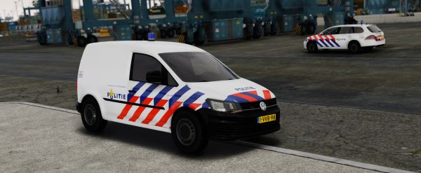 Volkswagen Caddy Dutch Police 1.1 для GTA 5