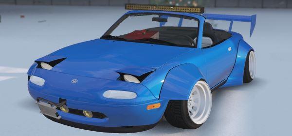 Mazda X-Miatas (MK1 MX5 Widebody) [Replace] 0.1 для GTA 5