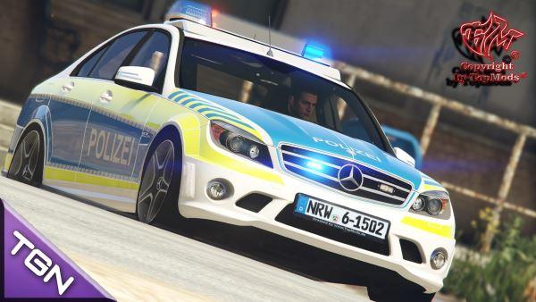 Mercedes-Benz С63 AMG Autobahnpolizei NRW для GTA 5