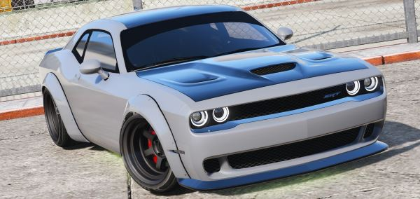 Dodge Challenger Hellcat Libertywalk - The Fate of the Furious Edition [Add-On / Replace] для GTA 5