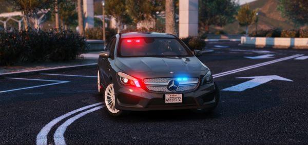 Mercedes-Benz CLA Unmarked [ELS] 1.1 для GTA 5