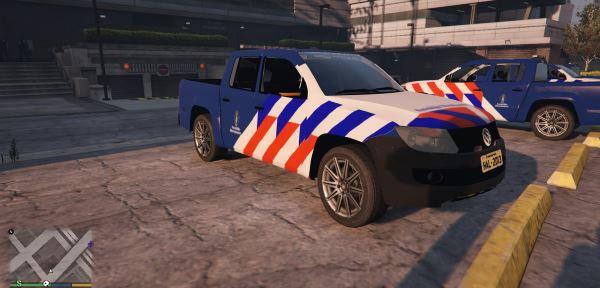 Volkswagen Amarok Koninklijke marechaussee (Dutch Military Police) для GTA 5