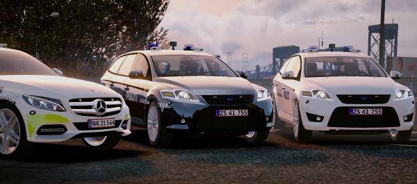 Danish Police Pack (Mondeo / Mercedes) [ELS] для GTA 5