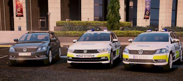 Volkswagen Passat Danish Police Pack [ELS] для GTA 5