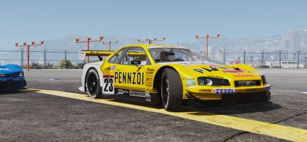 JGTC Nissan Skyline GT-R R34 [Add-On | Digital Dash] для GTA 5