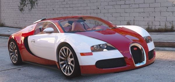 Bugatti Veyron 2009 [Add-On / Replace | Auto Spoiler | Animated] 1.1 для GTA 5