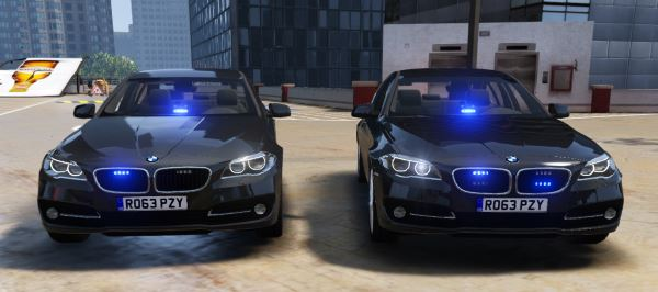 BMW British Unmarked Pack [ELS | Replace] 1.1 для GTA 5