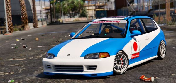Honda Civic EG6 Kanjo Edition [Tuning | Template] 1.1 для GTA 5