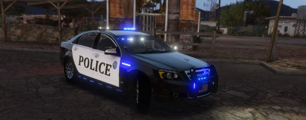 Chevrolet Caprice Police epic lights [ELS] 1.1 для GTA 5