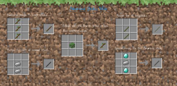 Advanced Sticks для Майнкрафт 1.11.2
