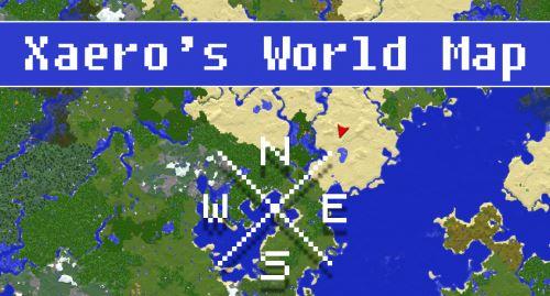 Xaero's World Map для Майнкрафт 1.11.2