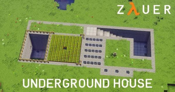 Modern Underground House для Майнкрафт 1.11.2