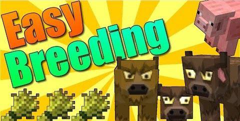 Easy Breeding для Майнкрафт 1.11.2