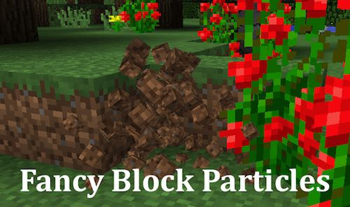 Fancy Block Particles для Майнкрафт 1.11.2