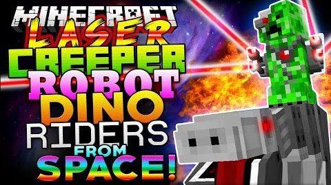 Laser Creeper Robot Dino Riders для Майнкрафт 1.10.2